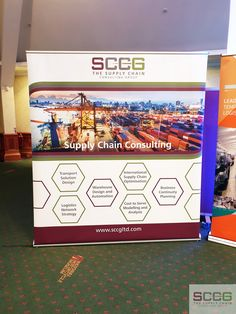 The Supply Chain Consulting Group (SCCG) Banner @ The Future of Refrigerated Transport conference, hosted by the Cold Chain Federation.