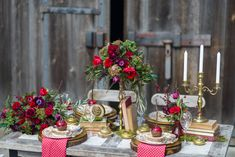An Autumn Red Tablescape