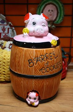 Piggy Cookie Jar.