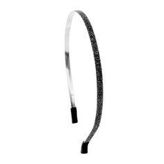 Skinny Black Glitter Headband