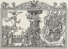 Cranach Lucas - true and false churches - woodcut