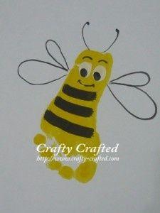 Bumblebee Footprint Craft