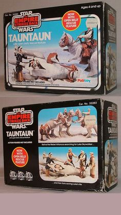 Something I wish I still had, in that glorious scene-showing box. ~ Kenner's Star Wars Tauntaun - now with open-belly rescue feature. Retro Toys, Vintage Toys, Vintage Ideas, Vintage Designs, Star Wars Toys, Star Wars Art, Star Wars Tauntaun, Jouet Star Wars, Nostalgia
