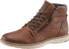 Lässige Schnürboots von MUSTANG. Tall Men Fashion, Mens Boots Fashion, Best Shoes For Men, Men S Shoes, Leather Chelsea Boots, Tall Guys, Winter Shoes, Hiking Shoes, Shoe Collection