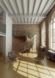 Exposed brick and beams of the ceiling! Gorgeous!