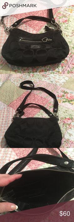 Coach purse Black coach purse -like new Coach Bags Shoulder Bags