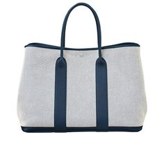 replica hermes birkin - Garden Party Hermes bag in cowhide with chevron canvas lining ...