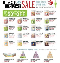 Thrive Black Friday sale starts in 2  days. On November 29 until December 2, check out the great list - http://www.thrivelife.com/files/materials/price-lists/Flyer:-Black-Friday-Sale.pdf
