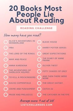 20 Books Most People Lie About Reading Challenge ~ How Much . - 20 books Most people lie about reading challenge ~ how many have you actually re …, - Reading Habits, Reading Lists, Book Lists, Reading Books, Study Habits, Reading Time, I Love Books, Great Books, My Books