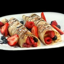 Peanut Butter Cream and Berries Crepes <del>plus a VISA Card and Peanut Butter Giveaway!</del>