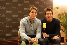 James and Oliver Phelps/ Fred and George Weasley :D