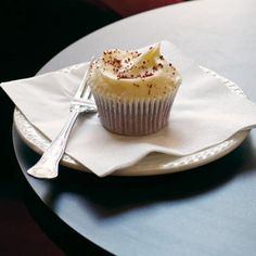 The Hummingbird Bakery's Red Velvet Cupcakes - a dense, dark crumb with a cheesecake-y topping