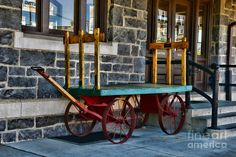 Vintage Train Baggage Wagon