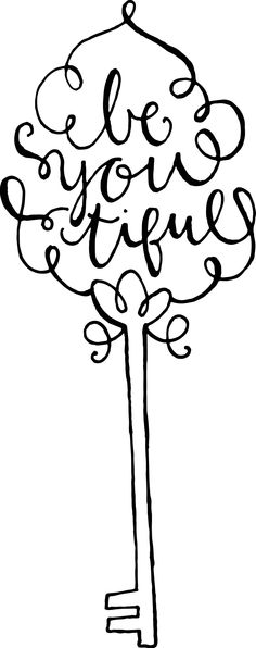 """""""be you tiful"""" Hand-lettered // www.onthespotstudio.com"""