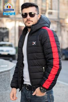 Geaca Exclusive Negru - Rosu Canada Goose Jackets, Winter Jackets, Casual, Style, Fashion, Winter Coats, Swag, Moda, Winter Vest Outfits