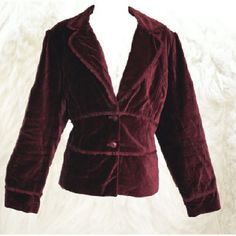Burgundy Velvet Blazer Sz 16 Gorgeous equestrian fit soft burgundy velvet blazer. Fully lined.  By Apt 9. Size 16. Good pre-owned condition with no holes, rips or stains. ?? Measurements & additional photos upon request ?? ?? BUNDLE & SAVE! 15% off 2 or more items! ??  Keywords: feminine, indie, gothic, romantic Apt. 9 Jackets & Coats Blazers