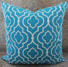 New Designer Pillow Cover 18 x 18  Jali Turquoise by 3BModLiving, $28.00