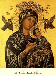 allaboutmary:    Happy feastday of Our Lady of Perpetual Help!  Mary, from thy sacred Image,With those eyes so sadly sweet,Mother of Perpetual Succour,See us kneeling at thy feet.In thy arms thy Child Thou bearest,Source of all thy joy and woe;What thy bliss, how deep thy sorrow,Mother, Thou alone canst know.