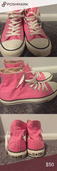Pink High Top Converse Converse chuck Taylor all star high top Converse Shoes Sneakers