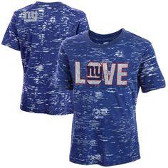 New York Giants Youth Girls Burnout T-Shirt - Royal Blue - $16.99