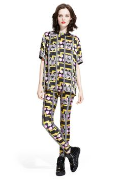 2017 Versace Block Pattern Pyjamas Recent Fashion