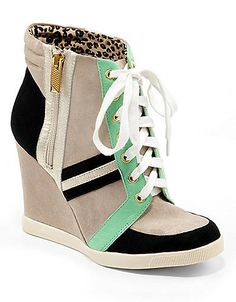 Lexia Color-Block Wedge Sneakers | Lord and Taylor