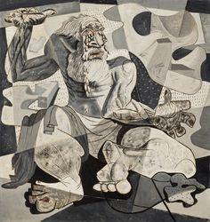 Candido Portinari. O Pranto de Jeremias (Série Bíblica), 1944 Geometric Sculpture, Visual And Performing Arts, Outsider Art, Art Studies, Psychedelic Art, Paint Designs, Art Techniques, American Artists, Illustrators