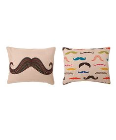 Mustache Throw Pillow by THRO on #zulily