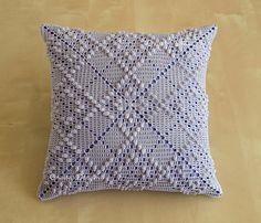 Argyle Pattern 12 oreiller de carré au Crochet  en