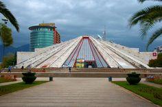 Tirana Albania Pyramid:  You'll find Tirana's concrete pyramid, Piramida, a short walk from Skanderbeg Square.
