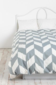UrbanOutfitters.com > Herringbone Duvet Cover -- I like this one, too.