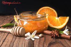 Orange, orange jam on rustic wood background , Orange Jam, Rustic Wood Background, Jam On, Moscow Mule Mugs, Punch Bowls, Honey, Sweets, Homemade, Tableware