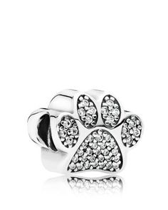 PANDORA Charm - Sterling Silver & Cubic Zirconia Paw Prints, Moments Collection | Bloomingdale's