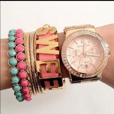 I always wear a ton of bracelets...