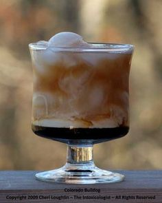 "Colorado Bulldog - Kahlua, Vodka, Cream & Coke A previous pinner wrote, ""In Canada it's called a Paralyzer and its waaaay better with milk rather than cream!"""