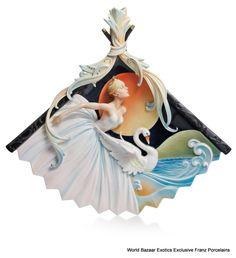 FZ02139 Franz Porcelain Prima Ballerina wall plaque new in box rare exclusive #FranzPorcelain