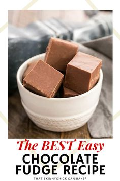 No-Fail Easy Fudge Recipe - Make luscious, creamy homemade fudge every single time with all my tips for the best results. Also known as Fantasy Fudge, my neighbors love getting a package for the holidays!! This homemade candy is super easy and will become a family tradition for Christmas! Easy Chocolate Fudge, Easy Fudge, Chocolate Recipes, Healthy Cookie Recipes, Fudge Recipes, Fun Desserts, Dessert Recipes, Drink Recipes, Cooking Recipes