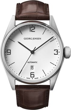 Georg Jensen Watch Delta Classic #basel-15 #bezel-fixed #bracelet-strap-alligator #brand-georg-jensen #case-depth-12mm #case-material-steel #case-width-42mm #date-yes #delivery-timescale-call-us #dial-colour-white #gender-mens #luxury #movement-automatic #new-product-yes #official-stockist-for-georg-jensen-watches #packaging-georg-jensen-watch-packaging #style-dress #subcat-delta #supplier-model-no-3575591 #warranty-georg-jensen-official-2-year-guarantee #water-resistant-100m