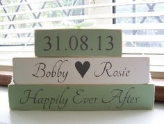Personalised Wedding Wooden Blocks