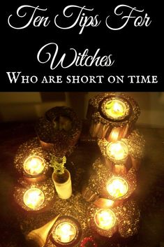 Ten easy tips for witches who are super short on time. Find out some easy tips and tricks that you can do in just TEN MINUTES! Really great Short article Witchcraft Books, Wiccan Spells, Magic Spells, Easy Spells, Wiccan Books, Luck Spells, Magick Book, Wiccan Witch, To Do Planner