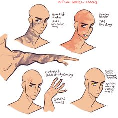 level spell scars for when your DM is feeling particularly vicious :) (Cantrip scars) lv spell scars level scars) level spell scars) level spell scars) level spell. Character Creation, Character Concept, Character Art, Drawing Reference Poses, Drawing Poses, Drawing Tips, Art Tutorials, Drawing Tutorials, Art Sketches