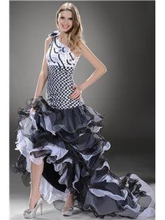 Sexy Column Floor-Length One-Shoulder Evening/Event Dress