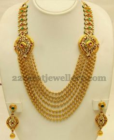 Jewellery Designs: Seven Stringed Gold Haram