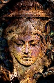 TEMPERANCE - tarot card montage fine art photo from statues, cemeteries and dead flowers - unmatted Gray Garden, Garden Art, Temperance Tarot Card, Rust In Peace, Peeling Paint, Rusty Metal, Foto Art, Wabi Sabi, Old Things