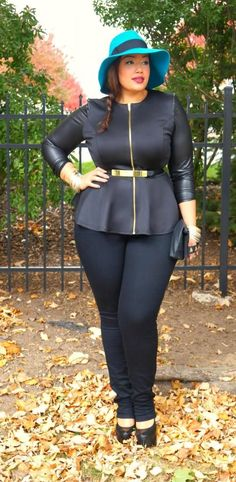 All Black Plus Size Not feeling the hat, but everything else  is YES