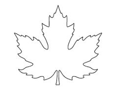 Large Maple Leaf Pattern
