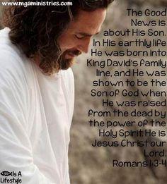 Romans 1:3-4 www.mgaministries.com