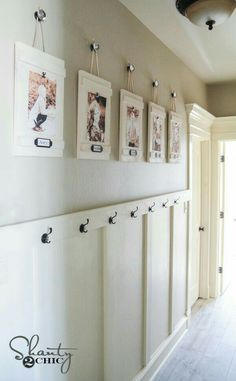 DIY Hanging Frames with Labels is part of Home decor - DIY Hanging Frames Tutorial by Diy Home Decor Projects, Easy Home Decor, Cheap Home Decor, Decor Ideas, Diy Ideas, Hanging Frames, Diy Hanging, Home Remodeling, Decorating Your Home