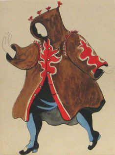 [Ballet Russe] Pablo Picasso - costumes for the production of Le Tricorne 1919 http://www.moma.org/collection/object.php?object_id=29284