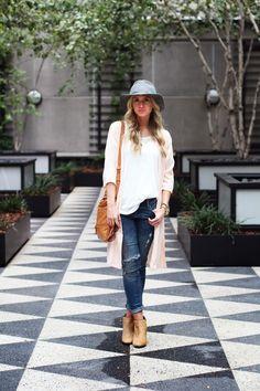Leopard booties + Fall hat.